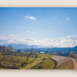 Kashmir train journey mountain view