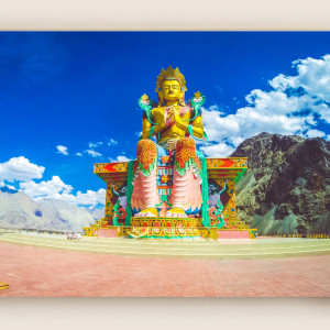 Buddha Canvas Print : Nubra Valley
