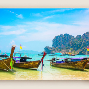 Boats on Phi Phi Island