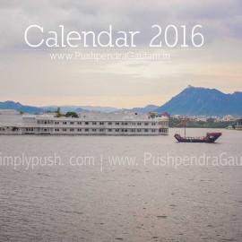 Travel Calendar 2016